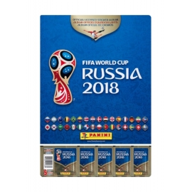 Caderneta Mundial 2018 + 5 Saquetas de Cromos