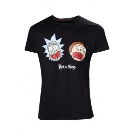 T-shirt Rick & Morty Crazy Faces  - Tamanho XL