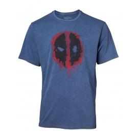T-shirt Deadpool Faux Denim Tamanho M
