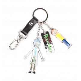 Porta-chaves Rick & Morty - Characters and Logo