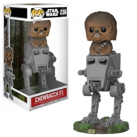 Pop Deluxe: Star Wars Chewbacca With AT-ST Bobble-Head 236