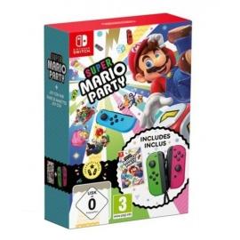 Super Mario Party Switch + Comandos  Joy-Con (set Esq/Dir) Verde Néon/Rosa Néon