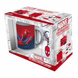 Pack Marvel's Spider-Man - Caneca + Porta-chaves + Stickers