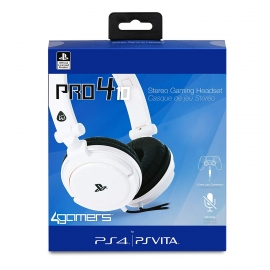 Auscultadores Gaming 4Gamers Stereo PRO4-10 Branco