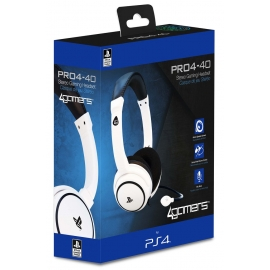 Auscultadores Gaming 4Gamers Stereo PRO4-40 Branco