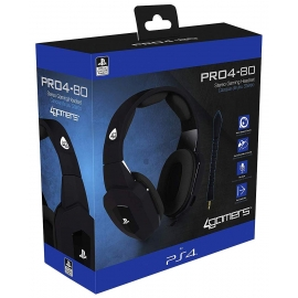 Auscultadores Gaming 4Gamers Stereo PRO4-80 Preto