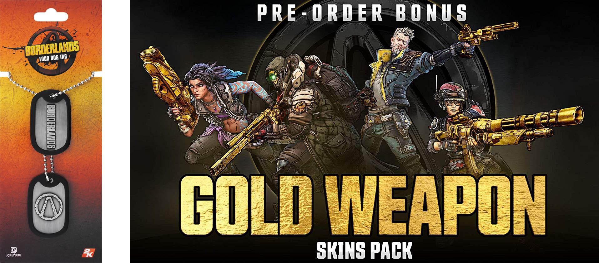 Borderlands 3 - Gold Weapons Skins Pack.