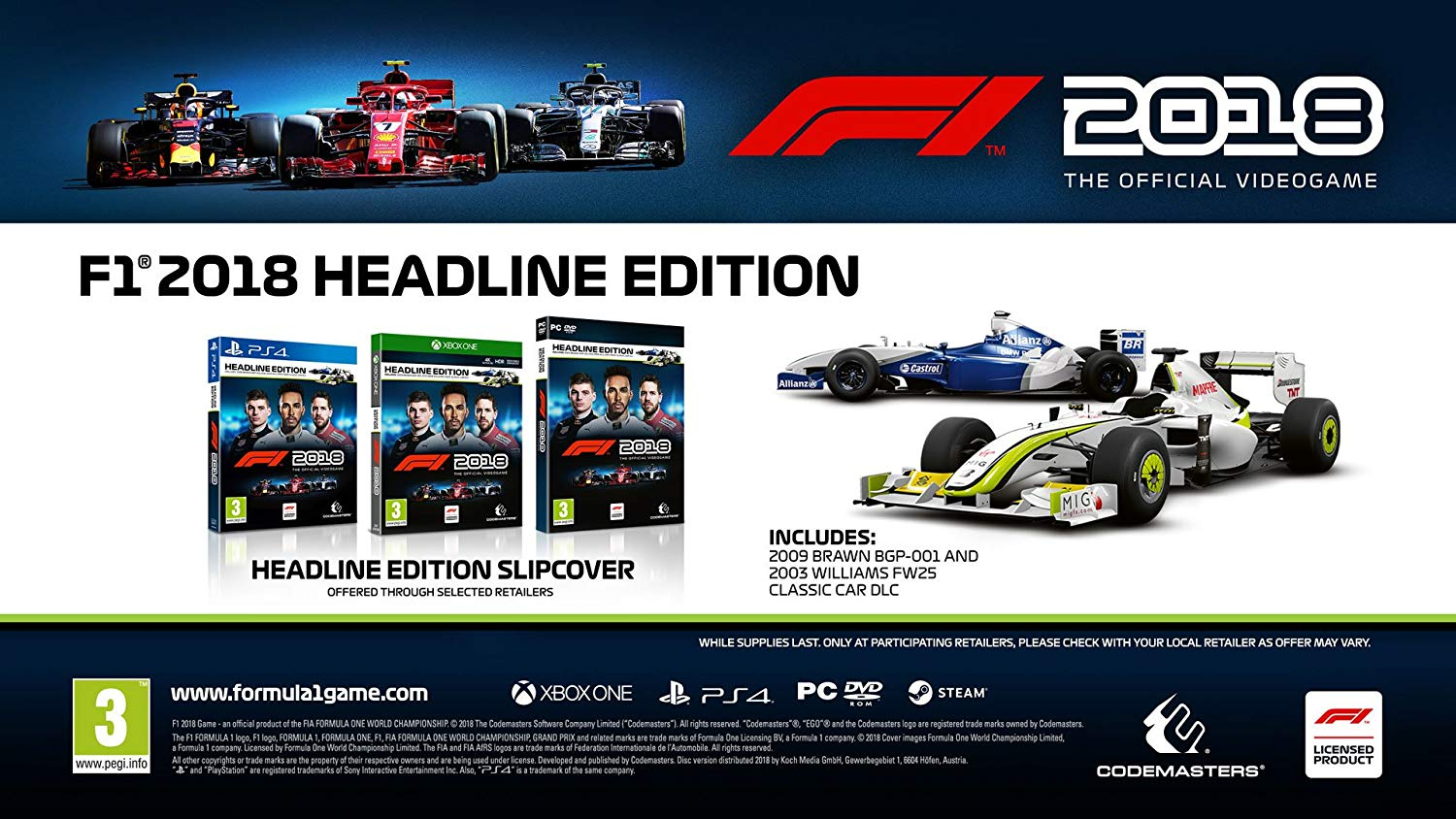 f1 2018 headline edition xbox one. Black Bedroom Furniture Sets. Home Design Ideas